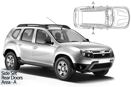 UV Car Shades - Dacia Duster 5dr 10-18 Rear Door Set