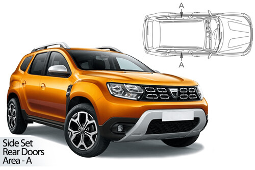 Car Shades Dacia Duster 5dr 2018> Rear Door Set
