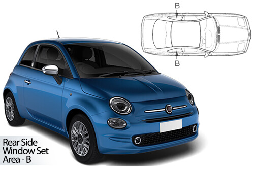 UV Privacy Car Shades - Fiat 500 3dr 08> Rear Door Set