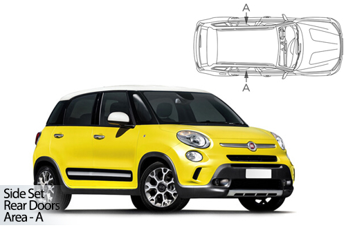 UV Privacy Car Shades - Fiat 500L MPV 5dr 12> Rear Door Set