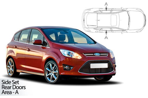 UV Privacy Car Shades - Ford C-Max 5dr 11> Rear Door Set