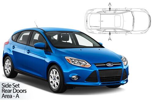 UV Privacy Car Shades - Ford Focus 5dr 11-18 Rear Door Set