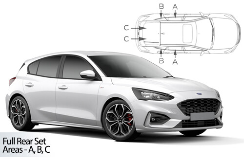 UV Car Shades Ford Focus 5dr 2018> Full Rear Set