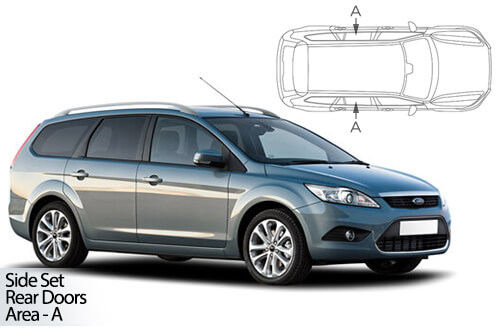 Car Shades Ford Focus Estate 04-11 Rear Door Set