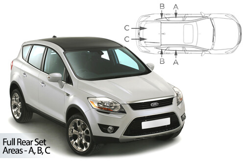 Car Shades Ford Kuga 5 door 08-12 Full Rear Set