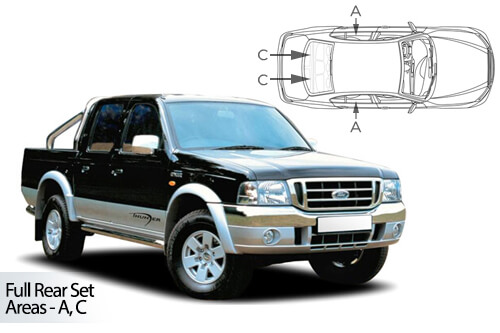 UV Privacy Car Shades (Set of 4) Ford Ranger D/C 07-11