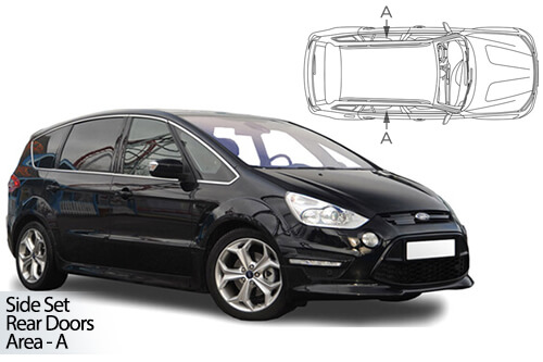 Car Shades Ford S-Max 5dr 10-15 Rear Door Set