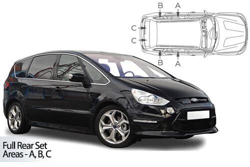 Car Shades Ford S-Max 5dr 10-15 Full Rear Set