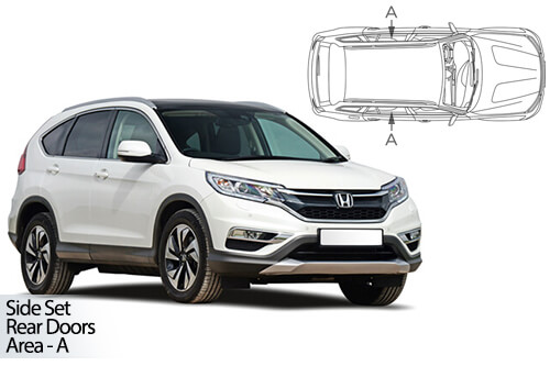 UV Privacy Car Shades - Honda CR-V 5dr 2012-2016 Rear Door Set