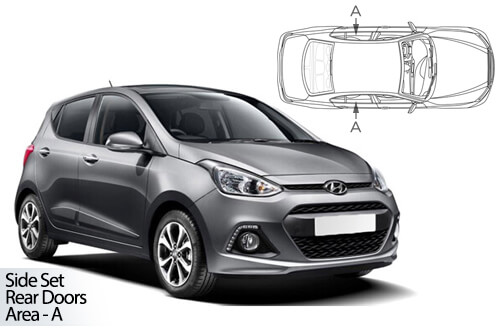 Car Shades Hyundai i10 5dr 13-19 Rear Door Set