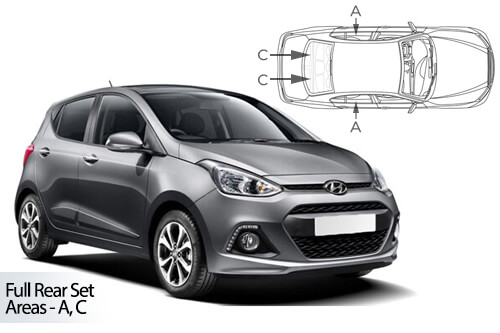 Car Shades Hyundai i10 5dr 13-19 Full Rear Set