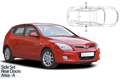 UV Privacy Car Shades - Hyundai I30 5dr 07-12 Rear Door Set