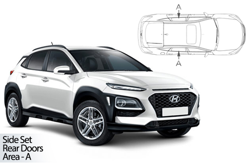 UV Car Shades - Hyundai Kona 5dr 2017> Rear Door Set