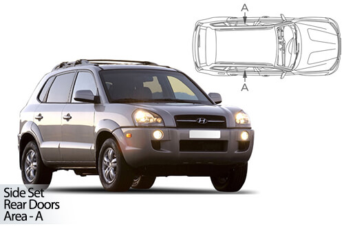 Car Shades Hyundai Tucson 5 door 05-09 Full Rear Set