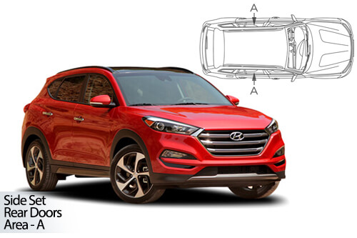 UV Privacy Car Shades - Hyundai Tucson 2015-19 Rear Door Set