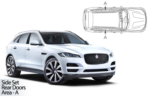UV Privacy Car Shades - Jaguar F-Pace 2016> Rear Door Set