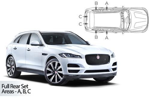 UV Privacy Car Shades - Jaguar F-Pace 2016> Full Rear Set