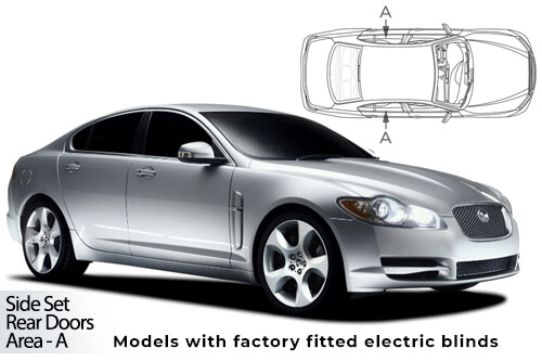 UV Car Shades Jaguar XF 08-15 Rear Door Set