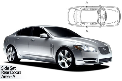 Car Shades Jaguar XF 08-15 Rear Door Set