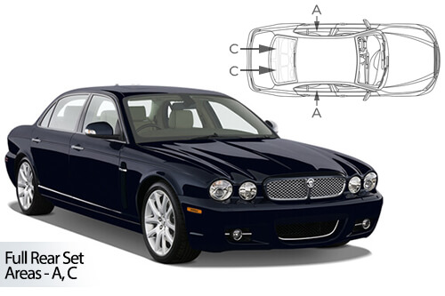 Car Shades Jaguar XJ 4dr 03-09 Full Rear Set