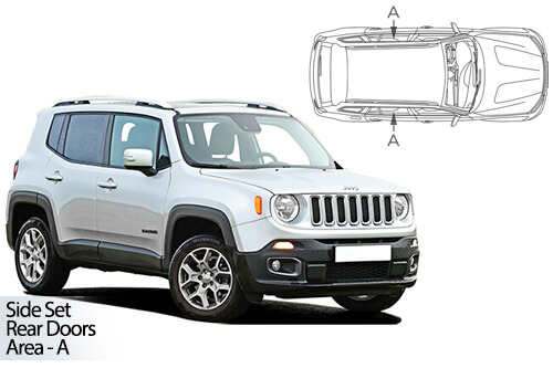 Car Shades Jeep Renegade 5dr 15> Rear Door Set