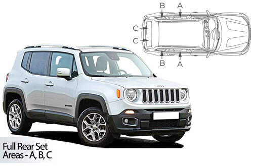 UV Privacy Car Shades (Set of 6) Jeep Renegade 5dr 2015>