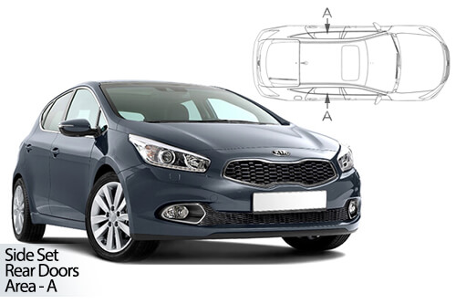 Car Shades Kia Cee\'d 5dr 12-18 Rear Door Set