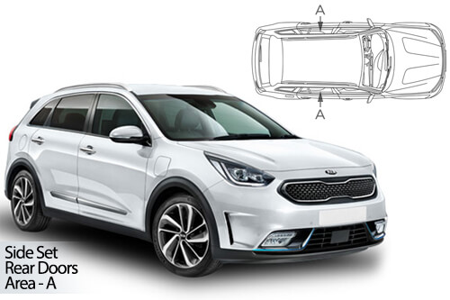 UV Car Shades - Kia Niro 5dr 2017> Rear Door Set