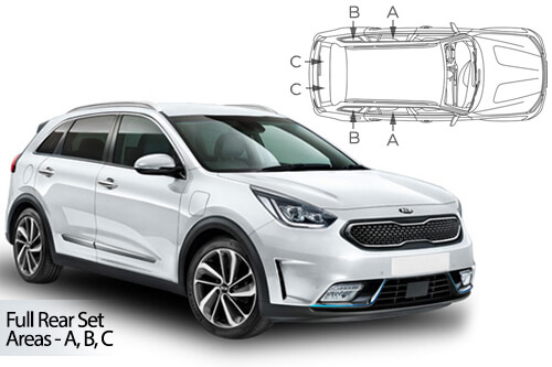 UV Car Shades - Kia Niro 5dr 2017> Full Rear Set