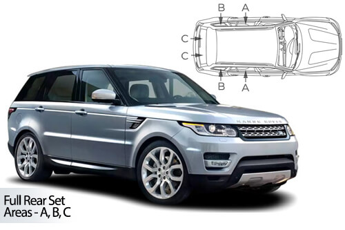 UV Privacy Car Shades (Set of 6) Range Rover Sport 13>