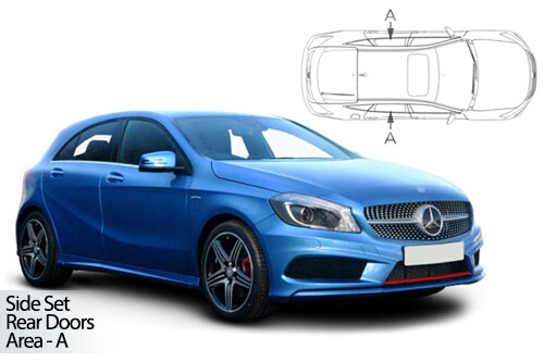 Car Shades Mercedes A-Class 5dr 12-18 W176 Rear Door Set