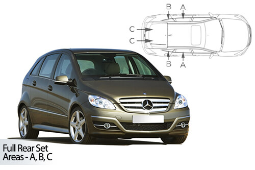UV Car Shades (Set of 6) Mercedes B CLASS 5dr 05-11 T245