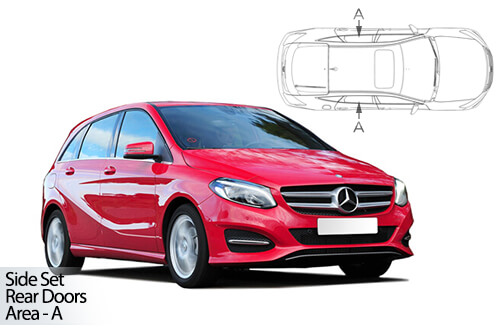 UV Car Shades - Mercedes B-Class 5dr 12> T246 Rear Door Set