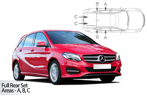 UV Car Shades - Mercedes B-Class 5dr 12> T246 Full Rear Set