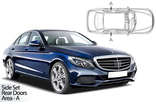 Car Shades Mercedes C Class 4dr 14> W205 Rear Door Set