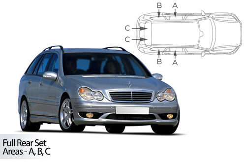 Car Shades Mercedes C Class Estate 00-07 S203 Full Rear Set