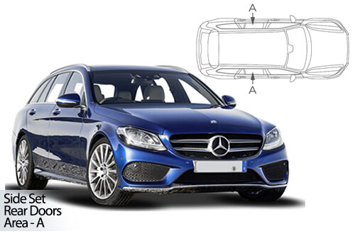 UV Car Shades - Mercedes C-Class Estate 2014> Rear Door Set