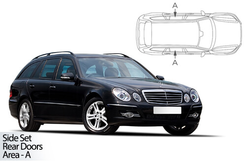 Car Shades Mercedes E Class Estate 02-09 S211 Rear Door Set