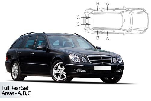 Car Shades Mercedes E Class Estate 02-09 S211 Full Rear Set