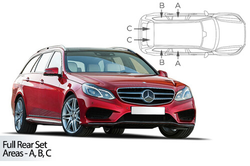 UV Car Shades (Set of 8) Mercedes E-Class Estate 09-16 S212