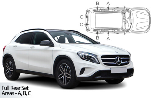 Car Shades Mercedes-Benz	GLA (X156) 5dr 14-19 Full Rear Set