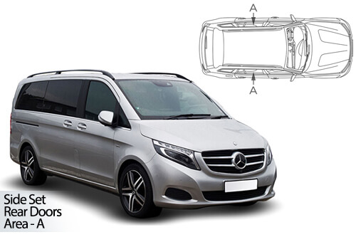 UV Car Shades - Mercedes Vito SWB 2014> Rear Door Set