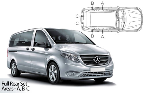 Car Shades Mercedes-Benz	Vito XLWB	5 door 14> Full Rear Set