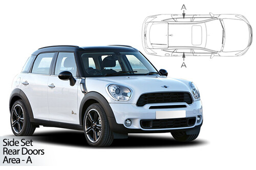 UV Privacy Car Shades - Mini Countryman 5dr 10-16 Rear Door Set