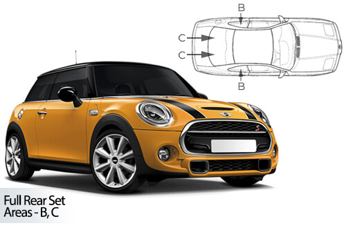 Car Shades Mini	Hatch 3 door 14> Full Rear Set