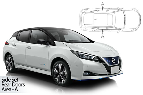 Car Shades Nissan Leaf 5dr 2018> Rear Door Set