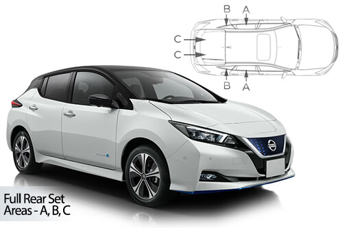 Car Shades Nissan Leaf 5 door 18> Full Rear Set