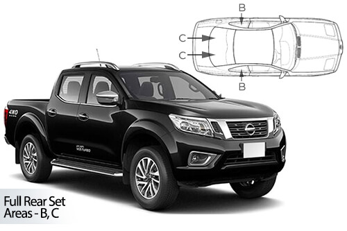 Car Shades Nissan Navara Double Cab	4dr 13> Full Rear Set