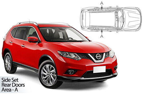 Car Shades Nissan X-Trail 5dr 13> Rear Door Set