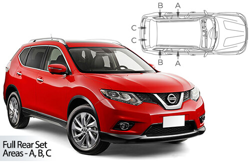 Car Shades Nissan X-Trail 5dr 13> Full Rear Set